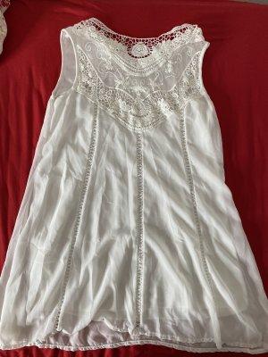 Sexy Sommer Kleid weiß Gr. S