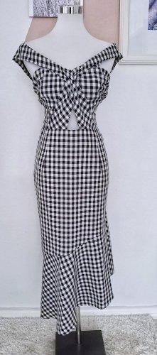 Boohoo Asymetryczna sukienka biały-czarny Poliester
