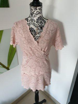Ashley Brooke Top di merletto rosa antico Poliammide