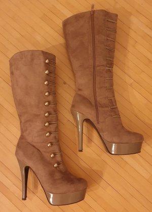 Sexy Stiefel! Sehr mädchenhaft! - 14cm Absatz - Wildleder optik - sehr bequem