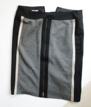 Sexy Streifen Stretch Rock Gerry Weber Größe Schwarz Beige Grau Tweed Pencil Skirt Minirock Business Eng
