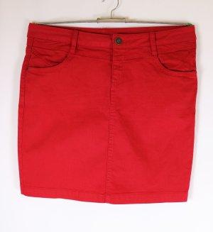 Sexy Stretch Minirock Jeansrock Rock s.Oliver Größe M 40 Rot Knallrot Coloured Jeans Kurz Denim