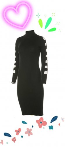 Almost Famous Knitted Dress black