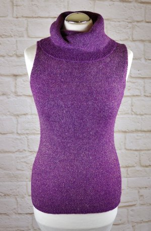 Haut tricotés doré-violet foncé