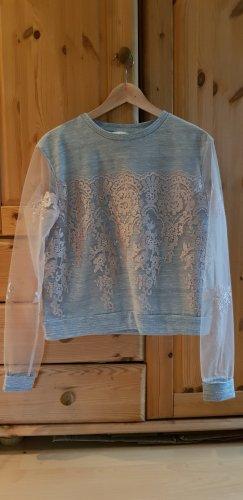 sexy Sweatshirt mit transparenten Ärmeln
