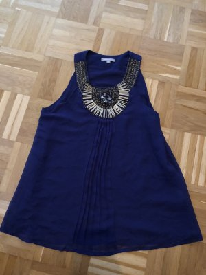 3 Suisses Blouse topje brons-donkerblauw
