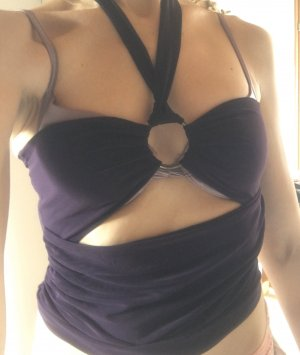 Sexy Top Gr. S , dunkellila , neu, nie getragen