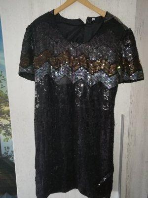 Sexy Vintage Paillettenkleid Gr. 42/44/Gold/Silber/Schwarz