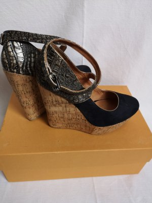 Alisha Wedge Pumps grey brown-dark blue
