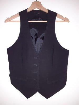 Oui Waistcoat black