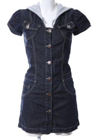 Sexy Woman Jeanskleid blau Casual-Look