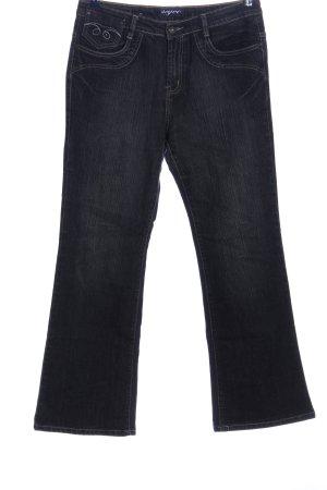 seyoo Jeansschlaghose schwarz Casual-Look
