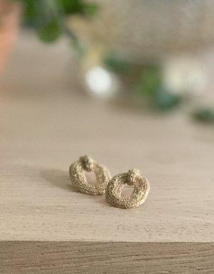 Sezane Boucle d'oreille incrustée de pierres doré
