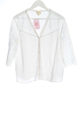Sezane Blouse-chemisier blanc style décontracté
