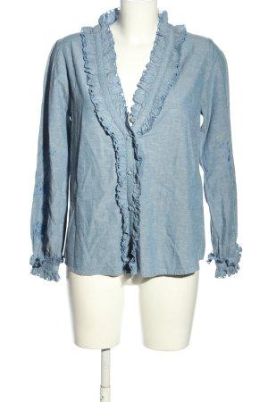 Sezane Jeansbluse blau Casual-Look