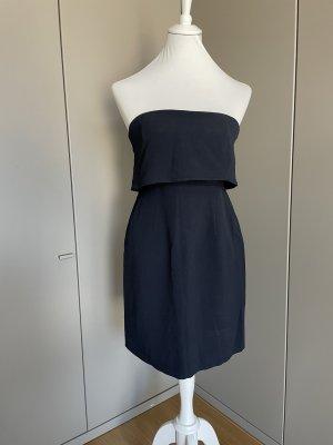 Sezane Bustier Dress dark blue