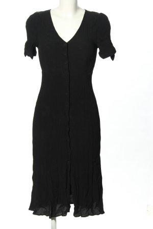 Sezane Shortsleeve Dress black allover print casual look