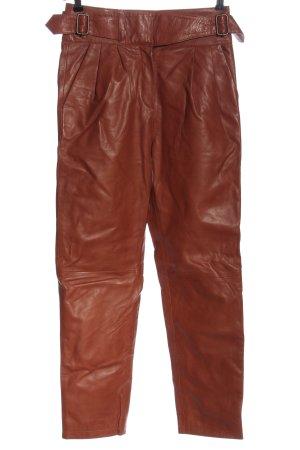 Sezane Leren broek bruin casual uitstraling