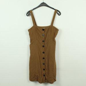 Sezane Pinafore dress brown linen