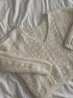 Sezane Coarse Knitted Sweater natural white