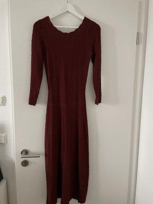 Sezane Midi Dress bordeaux-carmine