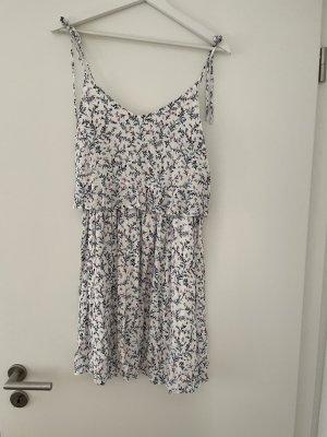 Sezane Mini Dress white-steel blue