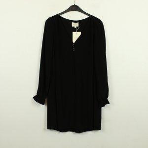 Sezane Longsleeve Dress black silk
