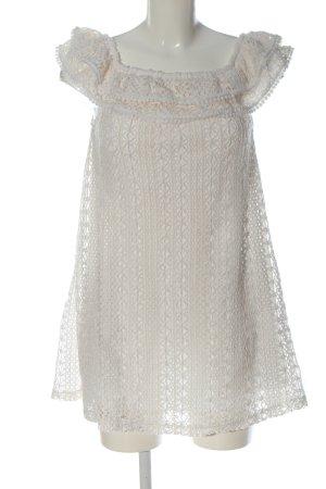 Sezane Spitzenkleid weiß Elegant