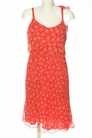 Sezane Pinafore dress red allover print casual look