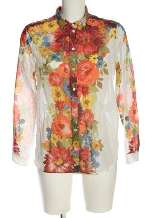 Sezane Blouse transparente motif de fleur style décontracté