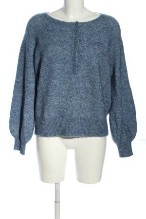 Sezane Wollpullover blau meliert Casual-Look