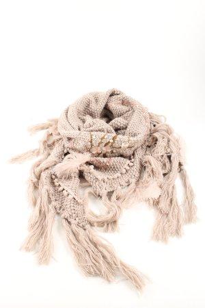 Écharpe en tricot crème imprimé avec thème style décontracté