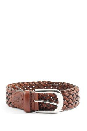 SF Cinturón trenzado marrón estilo «business»