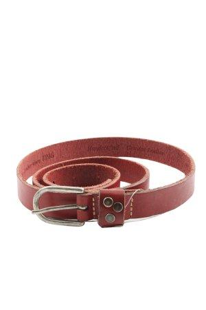 SF Cinturón de cuero rojo look casual