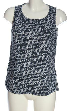 Sfera Basic Top blue-white allover print casual look