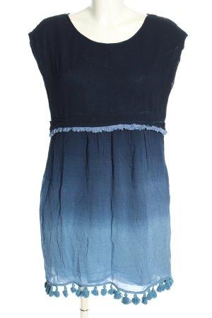 Sfera Blusenkleid blau Farbverlauf Casual-Look
