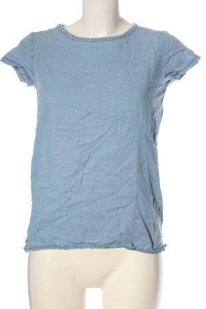Sfera Blusa denim blu stile casual