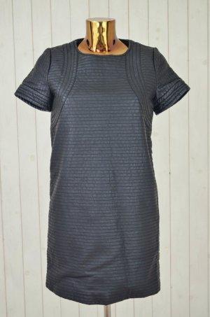 Sfera Vestido de cuero negro Poliuretano