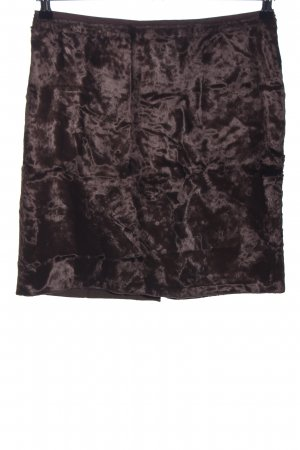 Sfera Faux Leather Skirt brown casual look