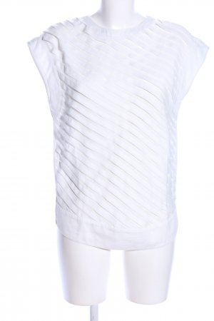 Sfera Short Sleeved Blouse white striped pattern casual look
