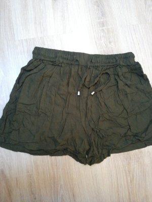 Sfera Pantalón corto de talle alto verde oscuro-verde oliva