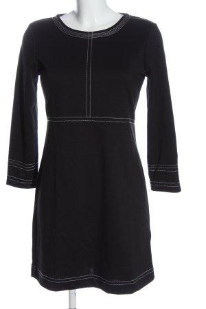 Sfera Longsleeve Dress black-white striped pattern casual look