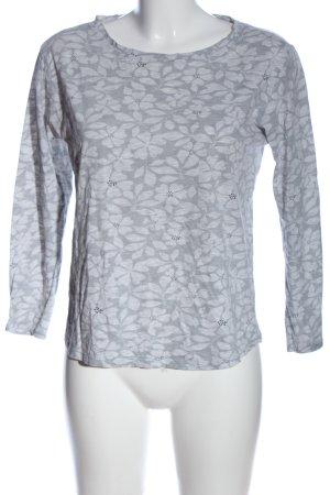Sfera Longsleeve light grey flower pattern casual look