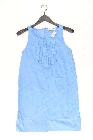Sfera Midikleid Größe S Ärmellos blau aus Baumwolle