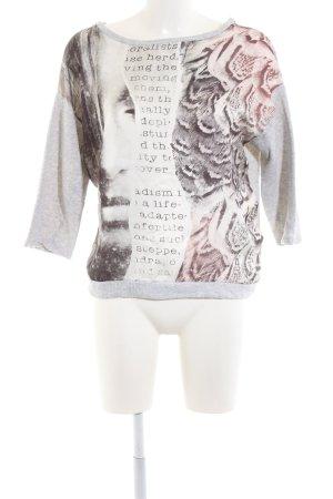 Sfera Rundhalspullover abstraktes Muster Casual-Look