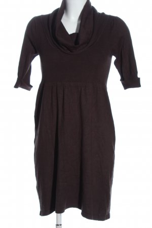 Sfera Knitted Dress brown casual look