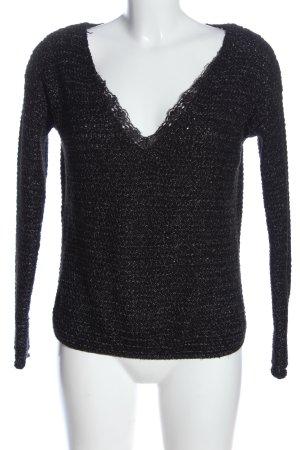 Sfera V-Neck Sweater light grey-white flecked casual look