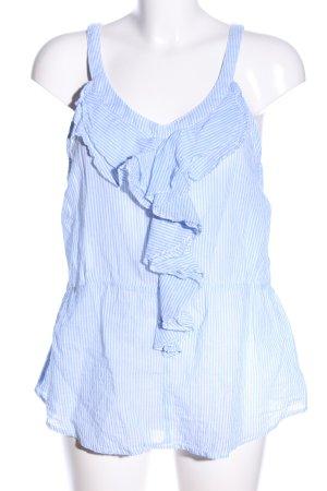 Sfera Volanttop weiß-blau Streifenmuster Casual-Look