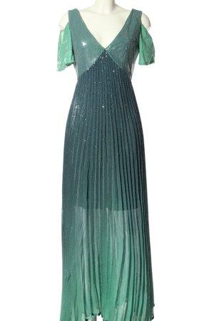 Sfizio Abendkleid grün Glanz-Optik