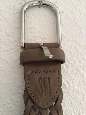 Braided Belt taupe-grey brown